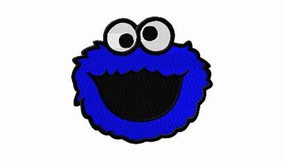 Cookie Monster Cartoon Clipart Clip Embroidery Machine