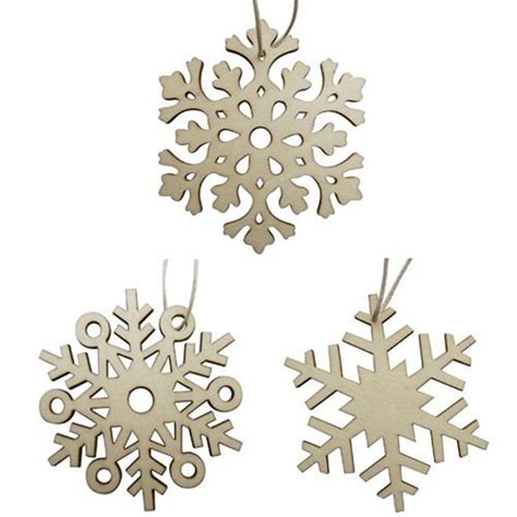 wooden christmas decorations snowflakes designs hanging