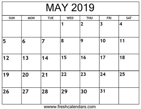 calendar printable fresh calendars