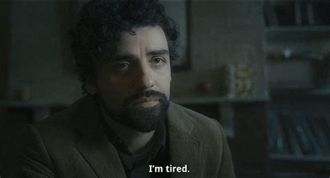 tired oscar isaac gif find share  giphy
