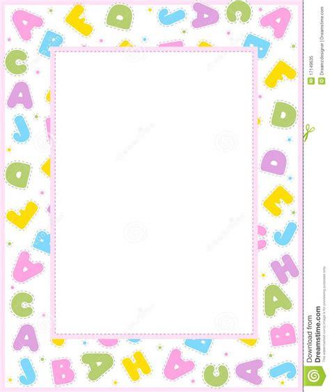 alphabet border stock vector image  border compose