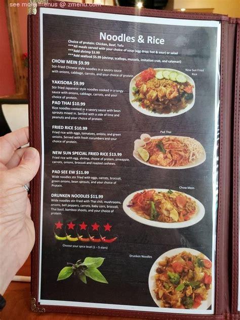 The coffee drinks and fruit smoothies are fantastic. Online Menu of New Sun Restaurant Restaurant, Ogden, Utah, 84401 - Zmenu