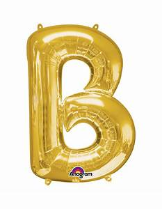 balloon letter b 40cm gold With where can you buy letter balloons