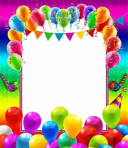 Birthday Happy Frame Transparent Colorful Frames Balloons