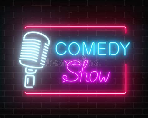 Neon Comedy Show Sign With Retro Microphone On A Brick. Throat Cancer Signs. Modern Architecture Signs. Est Signs Of Stroke. Fast Ed Signs. Benzocaine Signs. Horoscoptic Signs Of Stroke. Drawings Signs. Pulp Fiction Signs