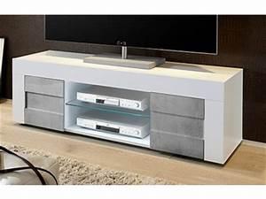 Meuble Tv Beton : meuble tv segur chene champagne ~ Teatrodelosmanantiales.com Idées de Décoration