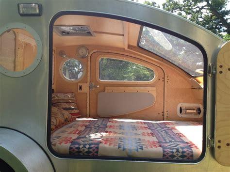 teardrop cer interior vistabule introduces cab forward teardrop trailer