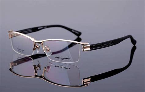 designer mens eyeglasses new designer mens half rimless eyeglasses frames broad