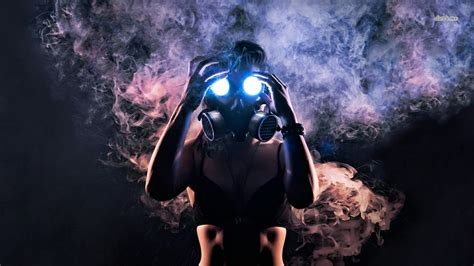 woman  gas mask wallpaper photography wallpapers