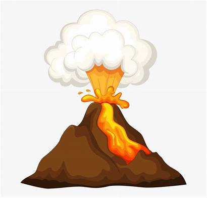 Volcano Clipart Transparent Eruption Clip Before Volcan