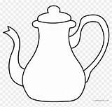 Coloring Tea Teapot Pot Template Clipart Sheets Kettle Wonderland Alice Clip Pages Silhouette Templates sketch template