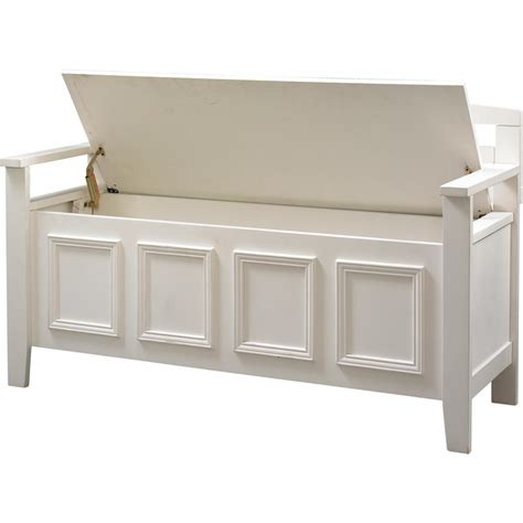 Kitchen Theme Ideas For Apartments - white wood storage bench practical and doubled functional storage solution homesfeed