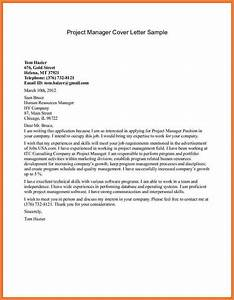 project manager assistant cover letter project manager With cover letter for project assistant position