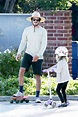 Adam Brody & Daughter Skateboarding: Spends The Day With ...