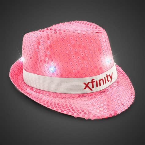Light Pink Hat by Neon Pink Light Up Sequin Fedora Imprintable Bands