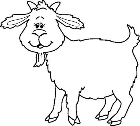 goat clipart black and white black and white goat pictures to pin on
