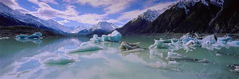 lake tasman  tasman glacier print mark gray fine