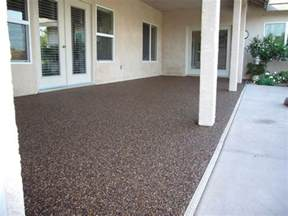 pebble epoxy patio flooring outdoor ideas