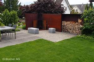 Windschutz Aus Holz : metall sichtschutz windschutz bildergalerie bucher ag widnau ~ Markanthonyermac.com Haus und Dekorationen