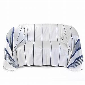 Jeté De Canapé Madura : jet de canap rectangulaire 2x3m fond blanc et rayures ~ Melissatoandfro.com Idées de Décoration