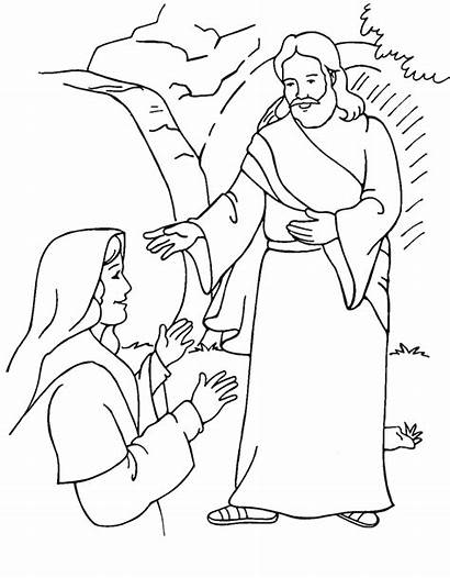 Easter Coloring Christian Pages Religious Sheets Jesus