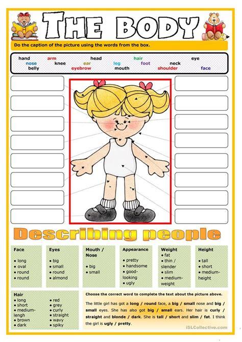 The Body Worksheet  Free Esl Printable Worksheets Made By Teachers