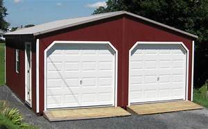 protect your vehicles with a 2 car garage With 20x24 metal garage