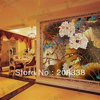magnificent mursery wall mural Magnificent Flowers Glass Mosaic Tile Modern Art Wall Mural-in Wall Stickers from Home & Garden ...