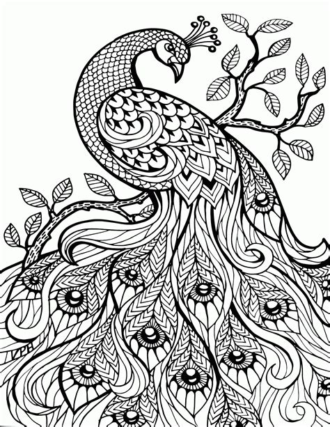 detailed animal coloring pages  adults coloring home