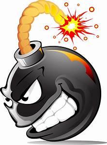 Comic clipart bomb - Pencil and in color comic clipart bomb