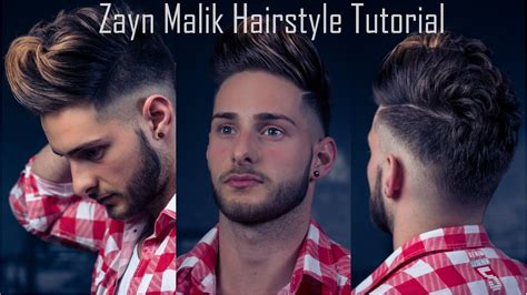 zayn malik mens hairstyle tutorial  haircut