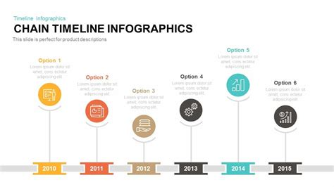 chain timeline infographics powerpoint template keynote