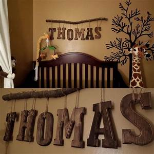 safari theme nursery room for our little man diy name With letters to hang on wall in baby room