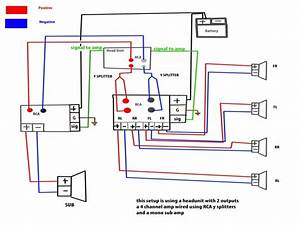 Mono Amp To Sub Plus 4 Channel Speakers Wiring Diagram And 4ch Amp