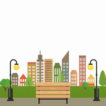 Park Transparent Vector Clipart Cartoon Colorful Building