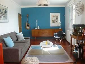 Salon Gris Bleu : couleur sol appart ~ Melissatoandfro.com Idées de Décoration