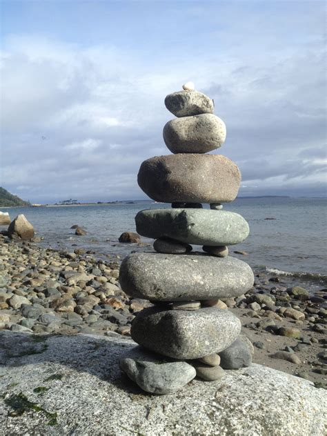 Cairn on rock free image