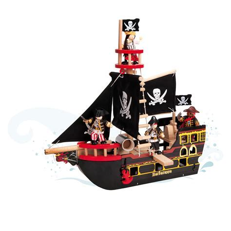 Le Toy Van Barbarossa Pirate Ship   Playsets & Toy Figures