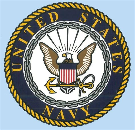United States Navy with Logo 4.25