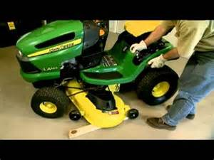 how to remove and attach a lawn mower deck deere