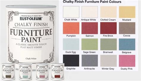 rust oleum chalk chalky furniture paint 750ml 125ml chic