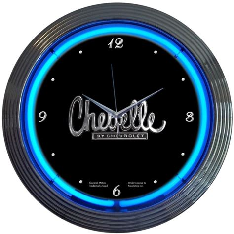 neon clock chevy chevelle gm sign man cave chevrolet ebay