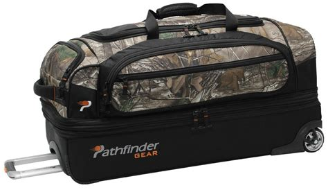 pathfinder gear  camo  expandable drop bottom wheeled duffel pathfinder gear