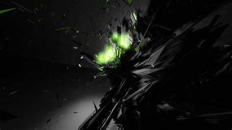 Abstract Black Green Background by Black Abstract Green Glow Desktop Wallpaper High Quality