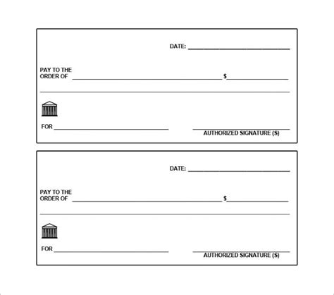 Free Blank Check Template Pdf by Blank Check Template 30 Free Word Psd Pdf Vector