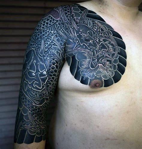 japanese chest tattoos  men masculine design ideas