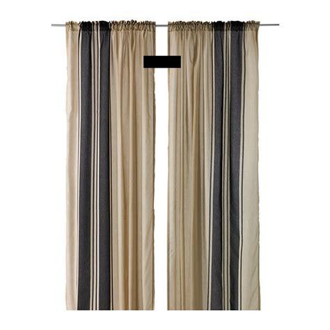 black and white striped curtains canada ikea bjornloka curtains drapes beige black stripes bj 214 rnloka