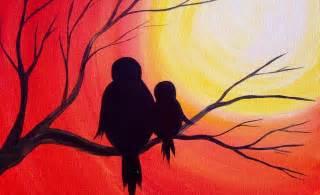 Easy Acrylic Sunset Paintings