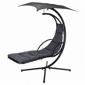 Fauteuil Suspendu Enfant : fauteuil suspendu alt a gris transat et hamac eminza ~ Melissatoandfro.com Idées de Décoration
