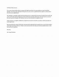 reference letter for eagle scout examples cover letter With eagle letters